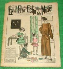 c1923 Great Art Deco Gatsby Jazz Era French Fashion Newspaper D29