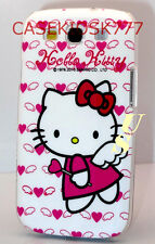 for samsung galaxy S3 angel case hot pink with heart kitty kitten i9300/ Siii