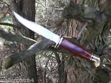 "BUCK KNIFE THE WOODSMAN A 7 3/4"" WOOD HANDLE FIXED BLADE AND HIGH GRADE SHEATH"