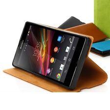 Tridea Premium Italian Card Pocket Flip Cover Case for Sony Xperia Z Android