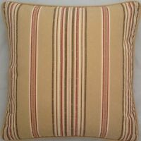 A 16 Inch cushion cover in Laura Ashley Keswick Stripe Gold fabric