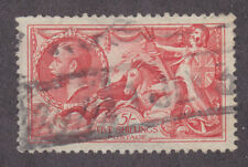 Great Britain Sc 180 used 1919 5sh carmine rose Seahorses