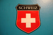 2  SWITZERLAND   FLAG SHIELDS SWISS CAR WINDOW BUMPER  STICKERS BIKE HELMET