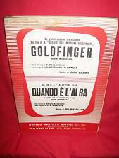 JOHN BARRY Goldfinger 007 OST + ORTOLANI Quando è l'alba OST 1965 Sheet Music