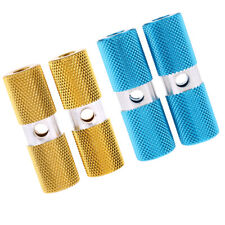 Pack of 4 Aluminium Alloy Cylinder BMX Axle Foot Pegs Bicycle Blue+Gold