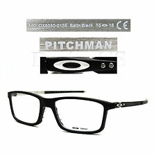 New Oakley PITCHMAN OX8050-0155 Satin Black 55/18/140 Eyeglasses Rx