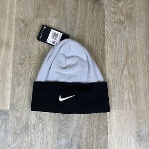 Nike Dri-Fit Sideline Team Beanie Hat Cap OS One Size Black/Grey CU6614-012 NWT
