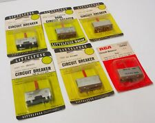 6 NOS Littlefuse RCA 815 / 816 Small Circuit Breakers