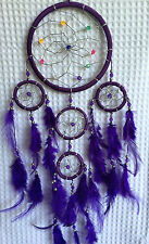 Dreamcatcher, Vibrant Purple with bright coloured beads,comes in 3 great colours