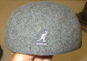 Kangol  Grey Wool 507 Seamless Cap 4 sizes