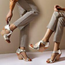 Fashion Womens Gladiator Sandals High Block Heels Open Toe Casual Shoes Zipper