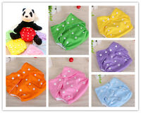 Cute Reusable Baby Infant Nappy Cloth Diapers Soft Cover Washable Adjustable 202