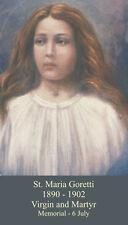 St Maria Goretti  Prayer Card.  Four Cards.   Free Shipping