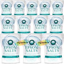 12x Elysium Epsom Bath Salts EUCALYPTUS Magnesium Sulphate Relaxing Soak 450g