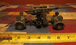 VINTAGE DINKY TOYS #656 DIE CAST METAL-GERMAN WWII 88 mm FLAK-AA GUN
