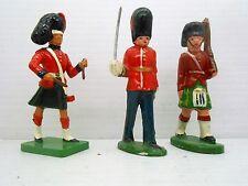 10 VINTAGE ANTIQUE LEAD BRITISH SOLDIERS GRANADEROS GRENADIER FIGURES TOY FIGURE