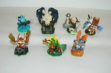skylanders lot of 7 darklight crypt ghost roaster camo double trouble gill grunt