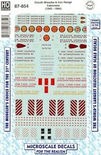 HO Scale Microscale 87-854 Duluth Missabe & Iron Range DMIR Cabooses Decal Set