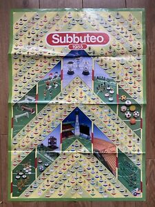 Subbuteo Fold Out Poster / Catalogue 1985