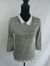 Lily White Blouse Size S Small Shirt 3 / 4 Sleeve Career Top