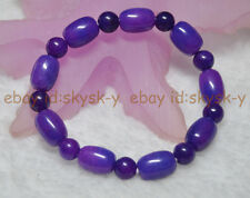 "New 10x14mm Purple Sugilite Gems Beads Elastic Bracelet 7.5"" AA"