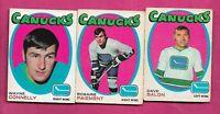 1971-72 OPC VANCOUVER CANUCKS CARD LOT  (INV# J0409)