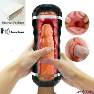 AUTOMATIC Male Masturbator Electric vaginal Blow Job Pussy Oral Adults Sex toys