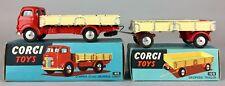CORGI TOYS -COMMER 5 TON DROPSIDE LORRY 452 & TRAILER 100- VINTAGE MODELS BOXED