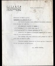 """PARIS (XV°) USINE AUTOMOBILE CITROEN """"PANHARD"""" Lettre en 1959"""