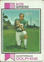 1973 Topps Regular (Football) Card# 295 Bob Griese of the Miami Dolphins Ex Cond