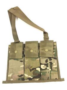 Multicam Bandoleer Pouch, USGI Camo Military Army 6 Mag Ammo Sling