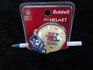 PITTSBURGH STEELERS Mini Football Helmet SUPER BOWL XL Riddell Pocket DETROIT