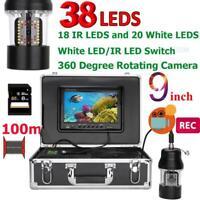 9 Inch DVR Recorder Fish Finder LEDs 20m/50m/100m 3.6mm Fishing Video Camera
