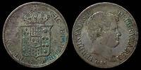 pci1040) Napoli Due Sicilie Ferdinando II piastra 1836 UNCLEANED !!!