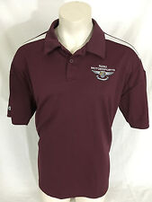 R2B2 Motorsports Burgundy Polo Collared Shirt Holloway Men's XL