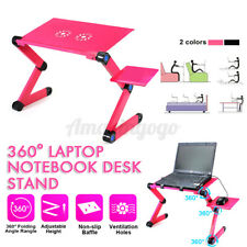 New listing 360° Adjustable Notebook Desk Tray Portable Laptop Stand Lazy Lap Sofa Bed Pc Us
