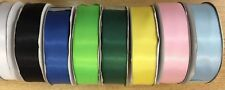 Job Lot RIBBON double satin 8 colours full rolls 200M 25mm VARIETY PACK SALE