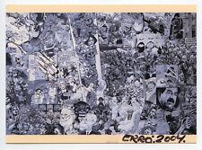 ERRO CARTE POSTALE D'ART SIGNÉE MAIN 2004 HANDSIGNED POSTCARD 13x18 CM BAGDAD