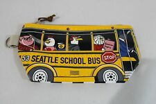 Simply Seattle Kid's Chalo Seattle School Bus Clip On Pouch DG4 Yellow One Size
