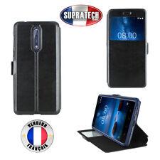 Etui Rabattable Noir Avec Ouverture Ecran pour Nokia 8