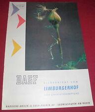 heft alt BASF bild bericht unkraut bekämpfung limburger hof reklame werbung 1960