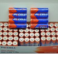 40 PKCELL AA Alkaline Batteries in Bulk Lot Over 1000mAh Shelf Life 10+ Years
