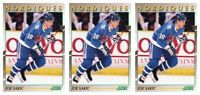 (3) 1991-92 Score Young Superstars Hockey #20 Joe Sakic Card Lot Nordiques