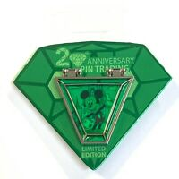 Disney 20th Anniversary Pin Trading Mickey Green Gem Countdown #1 LE Pin 2020
