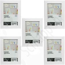 """5 Stück Set IKEA """"FISKBO"""" Bilderrahmen/ Fotorahmen/ Weiß/ Neu/ OVP """"10x15 cm."""