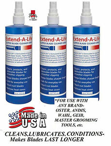3-CLIPPER Trimmer BLADE RINSE WASH CLEANER SPRAY Lube*For ANY Oster,Andis,Wahl