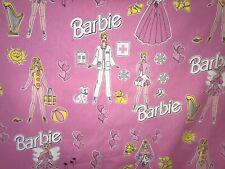 BARBIE CURTAIN FABRIC 5m Cotton Print Pink