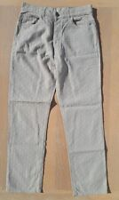 "Voi Jeans Mens Size W32 L31 Beige Straight Leg Textured Jeans Summer Fashion 32"""