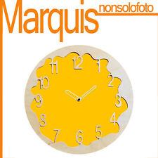 """Reloj de pared Art. 046 """"Ombre"""" amarillo melón 1028 Pirondini Marquis"""