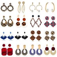 Women Boho Geometric Dangle Drop Crystal Acrylic Resin Ear Stud Earrings Jewelry
